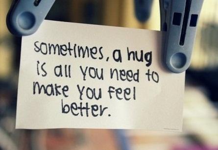 A Hug is Worth A Thousand Words
